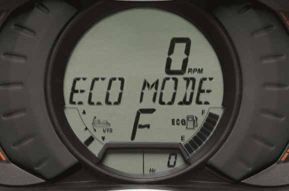 eco mode Sea-Doo® feature optimizes power output for improved fuel efficiency