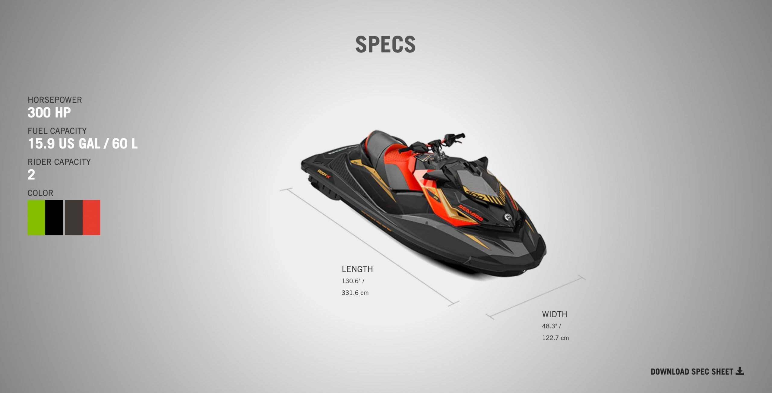 specs for the 2020 rxp-x 300 sea doo from jolly roger marina in nj