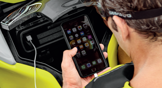 Watertight phone compartment on a 2021 seadoo