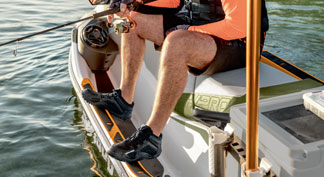 Angled Gunwale Footrests on the seadoo 2021 fish pro